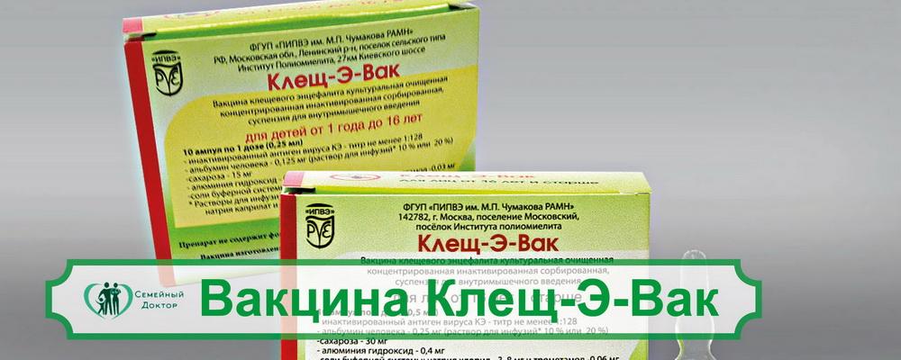 Вакцина Клещ-Э-Вак: клиника «Семейный доктор» в Санкт-Петербурге
